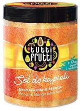 "Farmona Tutti Frutti Peach & Mango Aromatic Bath Salt - Соли за вана с аромат на праскова и манго от серията ""Tutti Frutti Peach & Mango"" - лосион"