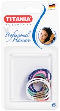 """Цветни ластици за коса - Комплект от 12 броя от серията """"Hair Care"""" - крем"""