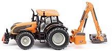 """Трактор с косачка за трева - Valtra T191 - Метална играчка от серията """"Farmer: Tractor & Loader"""" -"""