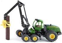 """Комбайн с кран - John Deere - Метална играчка от серията """"Farmer: Forestry"""" - играчка"""