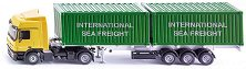 """Камион с контейнери - Mercedes Actros - Метална играчка от серията """"Super: Transport"""" - играчка"""