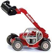 """Tелескопичен товарач - Manitou - Метална играчка от серията """"Super: Agriculture"""" - несесер"""