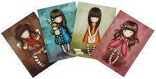 """Поздравителни картички - Thank You - Комплект от 4 броя от серия """"Gorjuss"""" -"""
