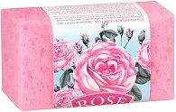 """Пилинг сапун-гъба с розова вода - От серията """"Rose"""" - мляко за тяло"""