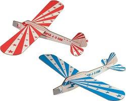 Самолети - Детски дървени играчки за сглобяване -