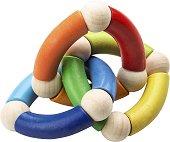 Дрънкалка - Трио пръстен - Дървена играчка -