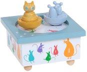 Музикална въртележка - Коте с мишки - Детска играчка - играчка
