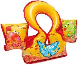 Детска надуваема жилетка с пояси за ръце - играчка