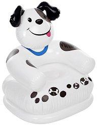 Надуваемо детско кресло - Кученце - играчка