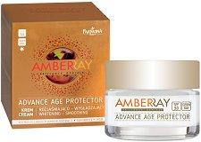Farmona Amberray Advance Age Protector Cream - SPF 30 - Избелващ и изглаждащ дневен крем за лице с кехлибар - балсам