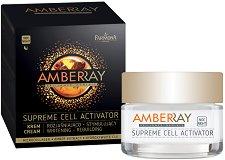 Farmona Amberray Supreme Cell Activator Cream - Избелващ и възстановяващ нощен крем с кехлибар - балсам