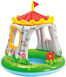Надуваем бебешки басейн - Замък -