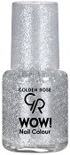 Golden Rose Wow Nail Color Glitter - Лак за нокти с глитерни частици - сенки