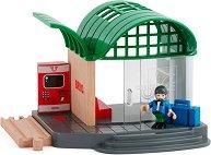 """Гара с машина за билети - Детска играчка от серията """"Brio: Аксесоари"""" - играчка"""