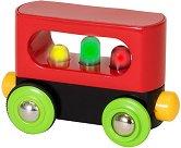 """Вагон със светлини - Детска дървена играчка от серията """"Brio: Вагони"""" -"""