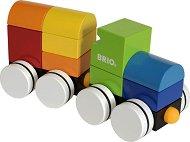 Влакче с магнитни части - Детска дървена играчка за сглобяване - играчка