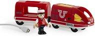 """Акумулаторен пътнически влак - Детска играчка от серията """"Brio: Влакчета"""" - играчка"""