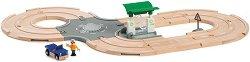 Бензиностанция - Дървена играчка с аксесоари - фигура