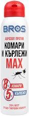 Аерозол против комари и кърлежи - Max - четка