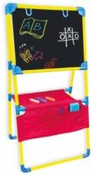 Комбинирана дъска за писане и рисуване - Комплект с тебешири, маркер и гъба -