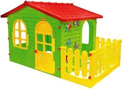 Детска сглобяема къща за игра с ограда - играчка