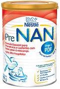 Диетична храна за диетотерапия на недоносени или родени с ниско тегло бебета - Nestle PreNAN Stage 2 - Метална кутия от 400 g за бебета с тегло над 1800 g след изписване от болницата -
