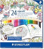 """Цветни моливи - Ergo Soft 157 - Комплект от 24 цвята от серията """"#MyCreativeEscape"""""""