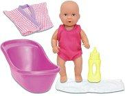 Бебе в банята - Детска мини кукла с аксесоари - кукла