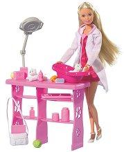 """Стефи - Ветеринар - Кукла с аксесоари от серията """"Steffi Love"""" - фигура"""