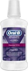 Oral-B 3D White Lux Fresh Mint - Вода за уста с избелващ ефект - душ гел