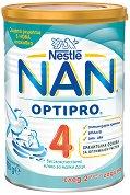 Висококачествена обогатена млечна напитка за малки деца - Nestle NAN OPTIPRO 4 - Метална кутия от 400 g или 800 g за след 24 месеца - пюре