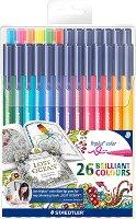 """Флумастери - Triplus 323 - Комплект от 26 цвята от серията """"#MyCreativeEscape"""""""