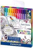 """Тънкописци - Triplus 334 - Комплект от 15 или 36 цвята от серията """"#MyCreativeEscape"""""""