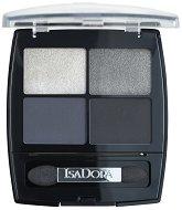 IsaDora Eye Shadow Quartet - Дълготрайни сенки за очи с 4 цвята -