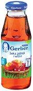 """Nestle Gerber - Сок от ябълки и череши - Стъклена бутилка от 300 ml от серията """"Моето първо"""" - продукт"""