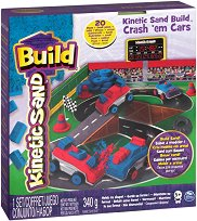 """Кинетичен пясък - Колички - Творчески комплект от серията - """"Kinetic sand: Build"""" - играчка"""