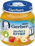 """Nestle Gerber - Пюре от ябълки и круши - Бурканче от 125 g от серията """"Моето първо"""" - пюре"""