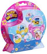 """Създай сама преспапиета с животни - Океан - Творчески комплект от серията """"Glitzi globes"""" -"""