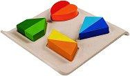 Завърти и сортирай - Детски образователен комплект от дърво - играчка