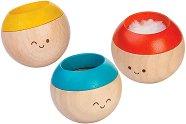 Забавни топчета - Дървени бебешки играчки за развиване на сетивата -