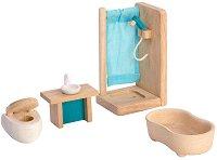 Баня - Дървено обзавеждане за къща за кукли - играчка