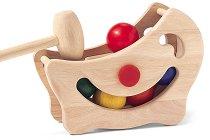 Магически топчета - Детска дървена играчка с чукче -