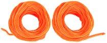 Оранжеви плюшени шнурчета - Комплект от 2 броя с дължина 5 m