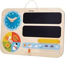 Детски календар - Дървена образователна играчка -
