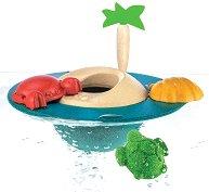 Плаващо островче - Детска дървена играчка - играчка