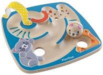 Лабиринт с топче - Детска дървена играчка за баланс - играчка