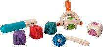 Дървени формички за моделиране - Творчески комплект - играчка