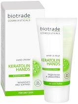 """Biotrade Keratolin Intensive Care Hand Creme - Подхранващ и омекотяващ крем за ръце от серията """"Keratolin"""" - душ гел"""