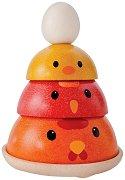 Гнездото на птиците - Детска дървена играчка за баланс - фигура