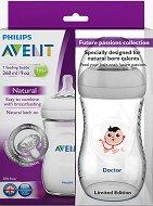"""Бебешки шишета за хранене - Natural: Doctor 260 ml - Комплект от 2 броя от лимитираната серия """"Бъдещи таланти"""" - продукт"""
